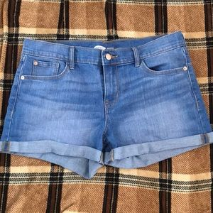 These jean shorts are brand new, never worn.